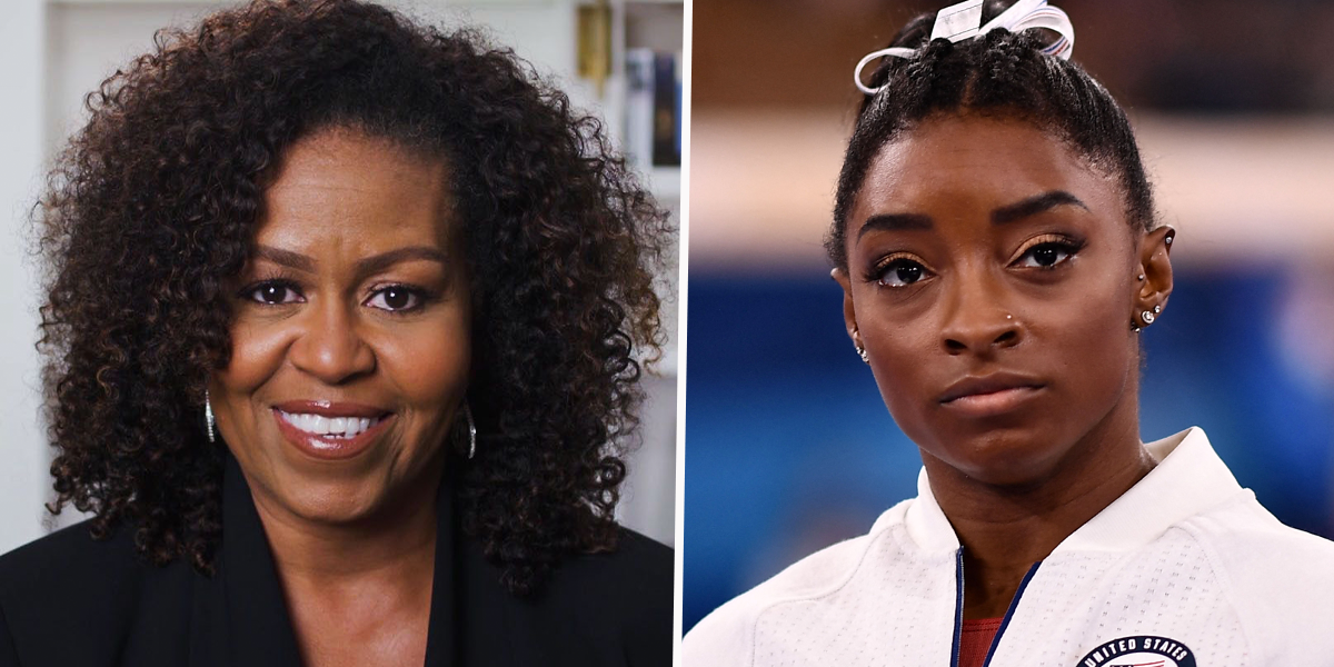 Michelle Obama Sends Touching Message of Support to Simone Biles