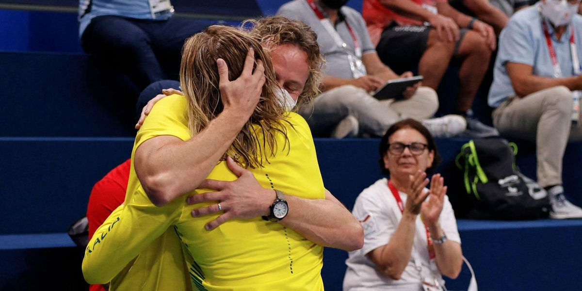 Australian Swimming Coach Dean Boxall's Wild Celebration Goes Viral After Ariarne Titmus Wins Gold