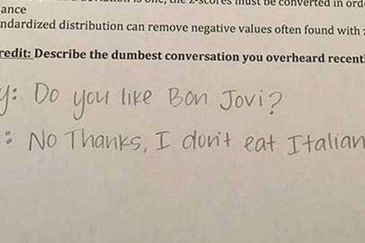 A teacher's viral extra credit questions lure students into a phenomenal prank