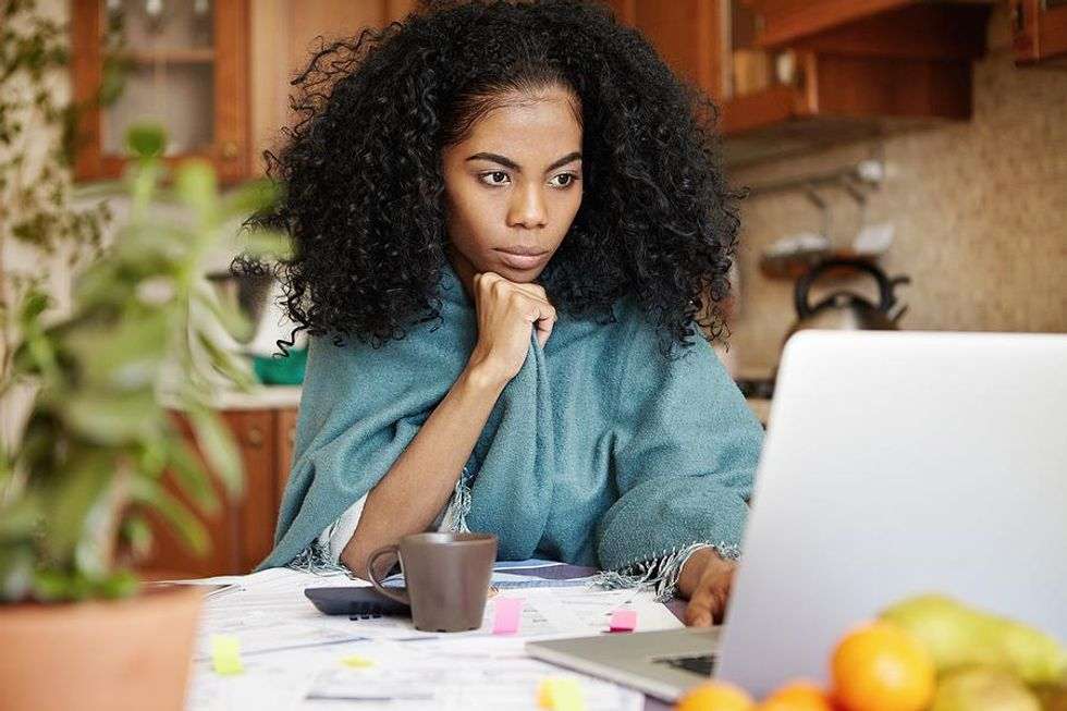 Woman manages her time while she works and goes to school