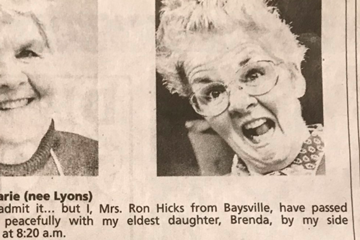 Recently-deceased mom becoming a celebrity after her kids' publish stunningly clever obituary