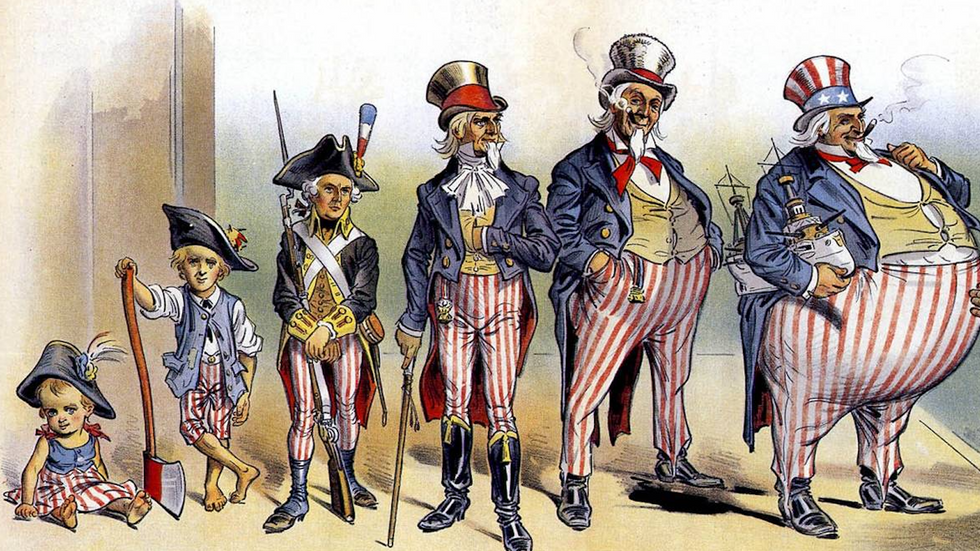 American imperialism: fat-shaming Uncle Sam