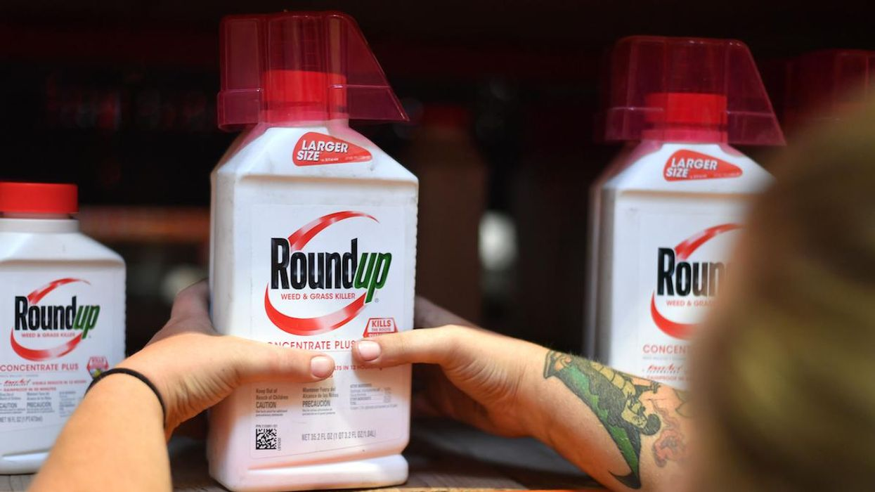 Roundup products on a shelf at a store.