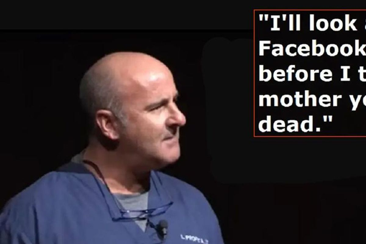 Doctor explains why he checks a dead patient's Facebook before notifying their parents