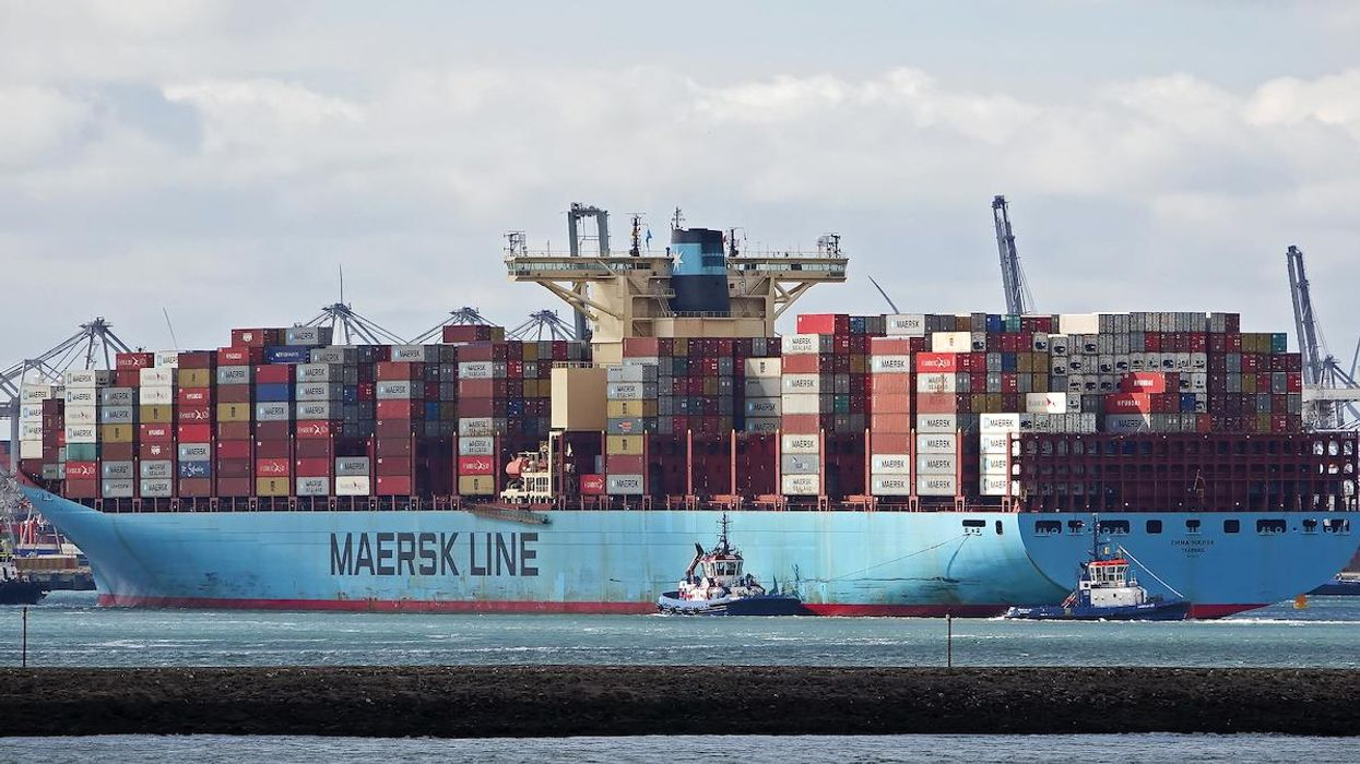 The Emma Maersk container ship.