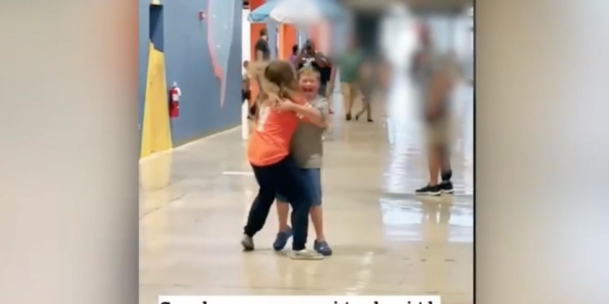 VIDEO: Tears flow as a young boy is able to attend in-person church services and hug a friend for the first time in over a year