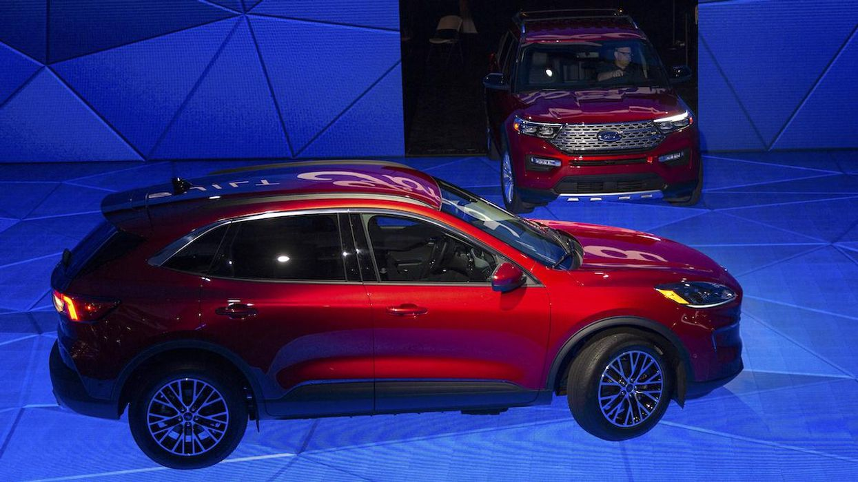 The electric Ford Mustang Mach-E and Ford Explorer hybrid.