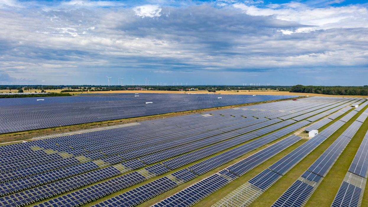 A large solar panel field in Germany.