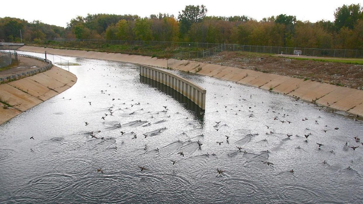 A water treatment plant outfall.