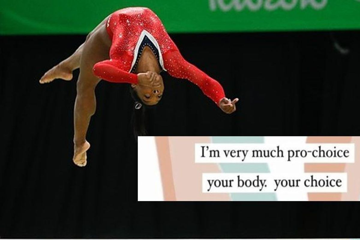 Simone Biles discusses being 'very much pro-choice' in powerful new exchange with her fans