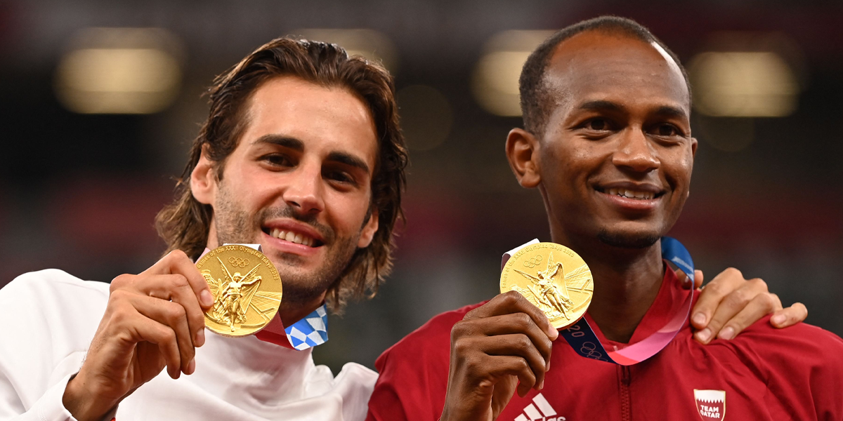 The Moment Two Olympians Decided to Share a Gold Medal is so Full of Joy
