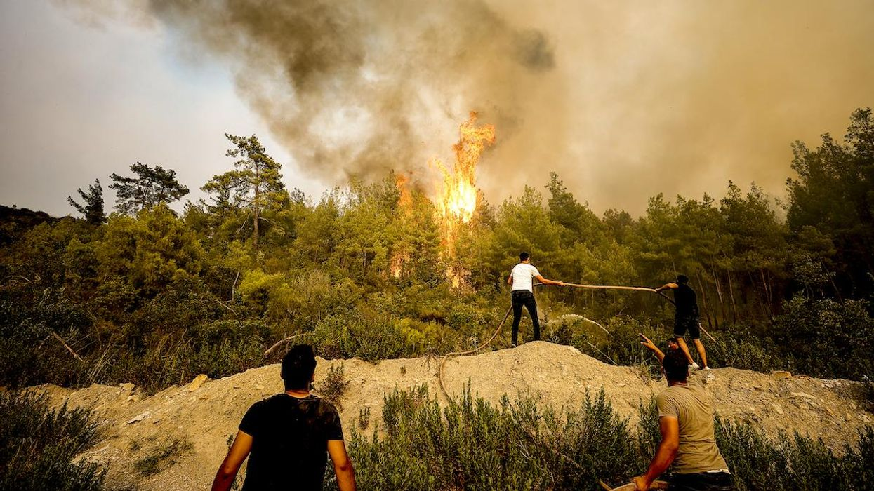 Forest fires broke out in Turkey.