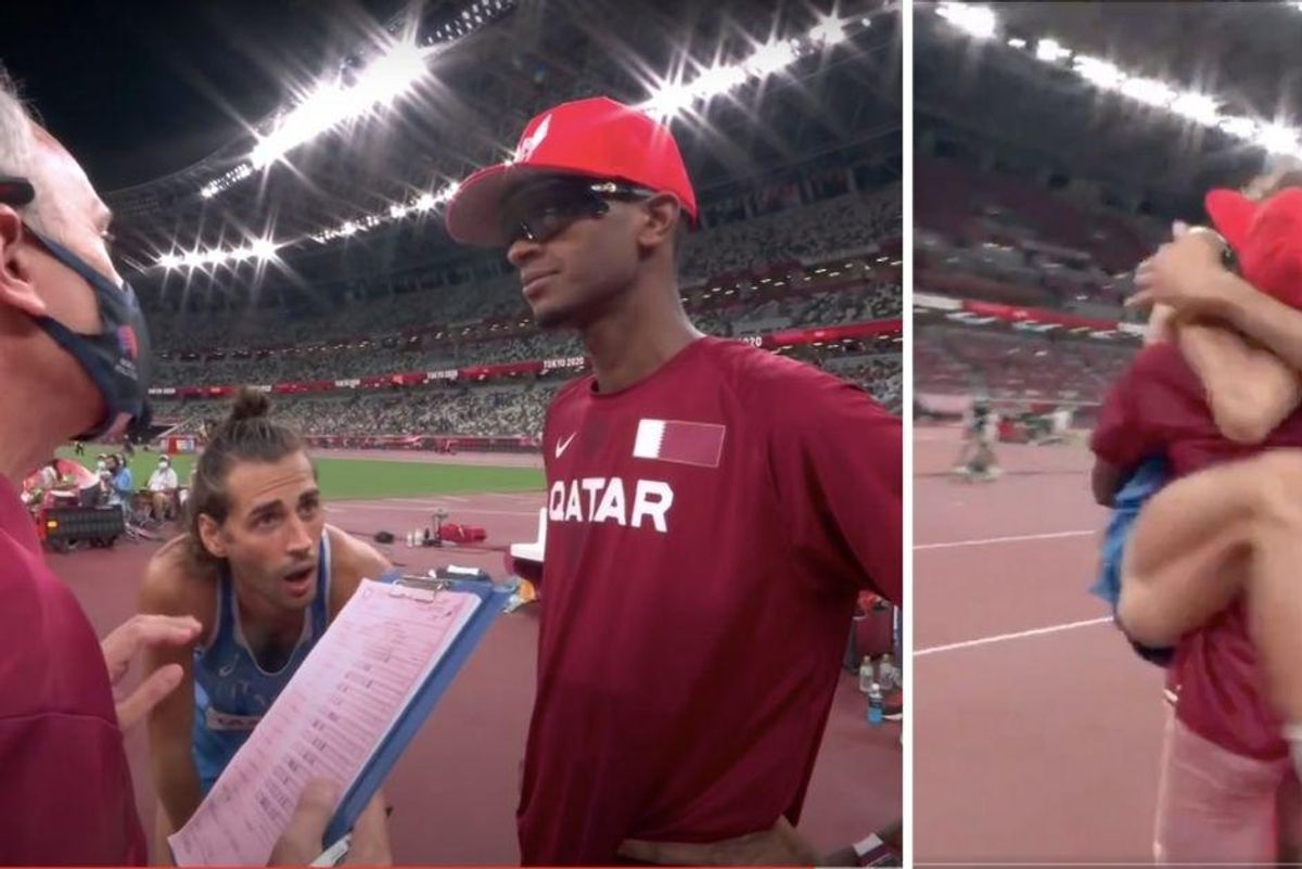 Facing a tiebreaker, Olympians asked if they could share a gold medal. Pure joy ensued.