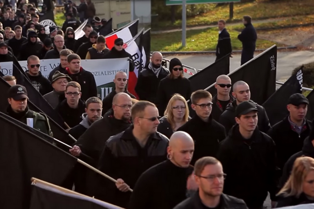 Neo-Nazis slowly realize this small town totally punked them