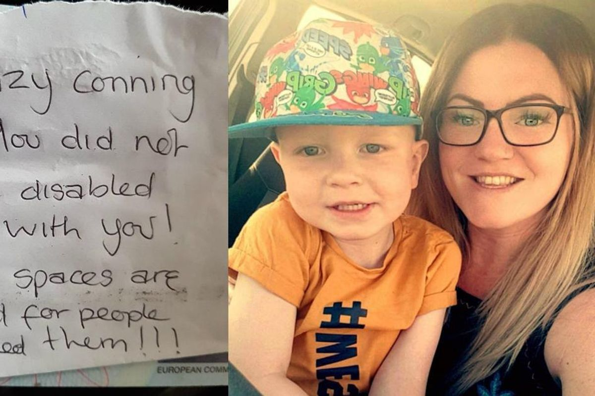 She got a nasty note on her car for parking in a disabled spot. Her response is a vital read.