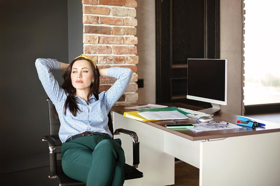 Woman thinking about changing careers