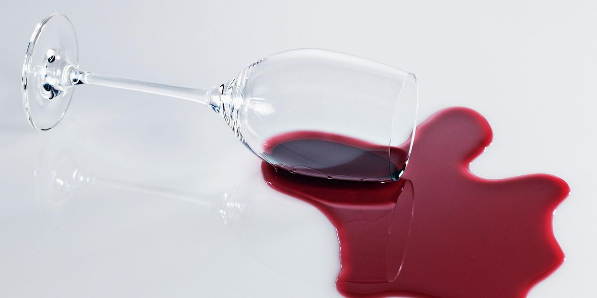 TikTok Is Obsessed With This Wine Bottle Holder That Looks Like Spilled Wine