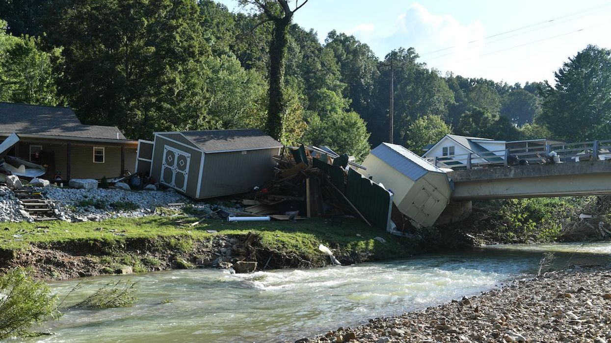 Damage after heavy rain and devastating floods in Tennessee.