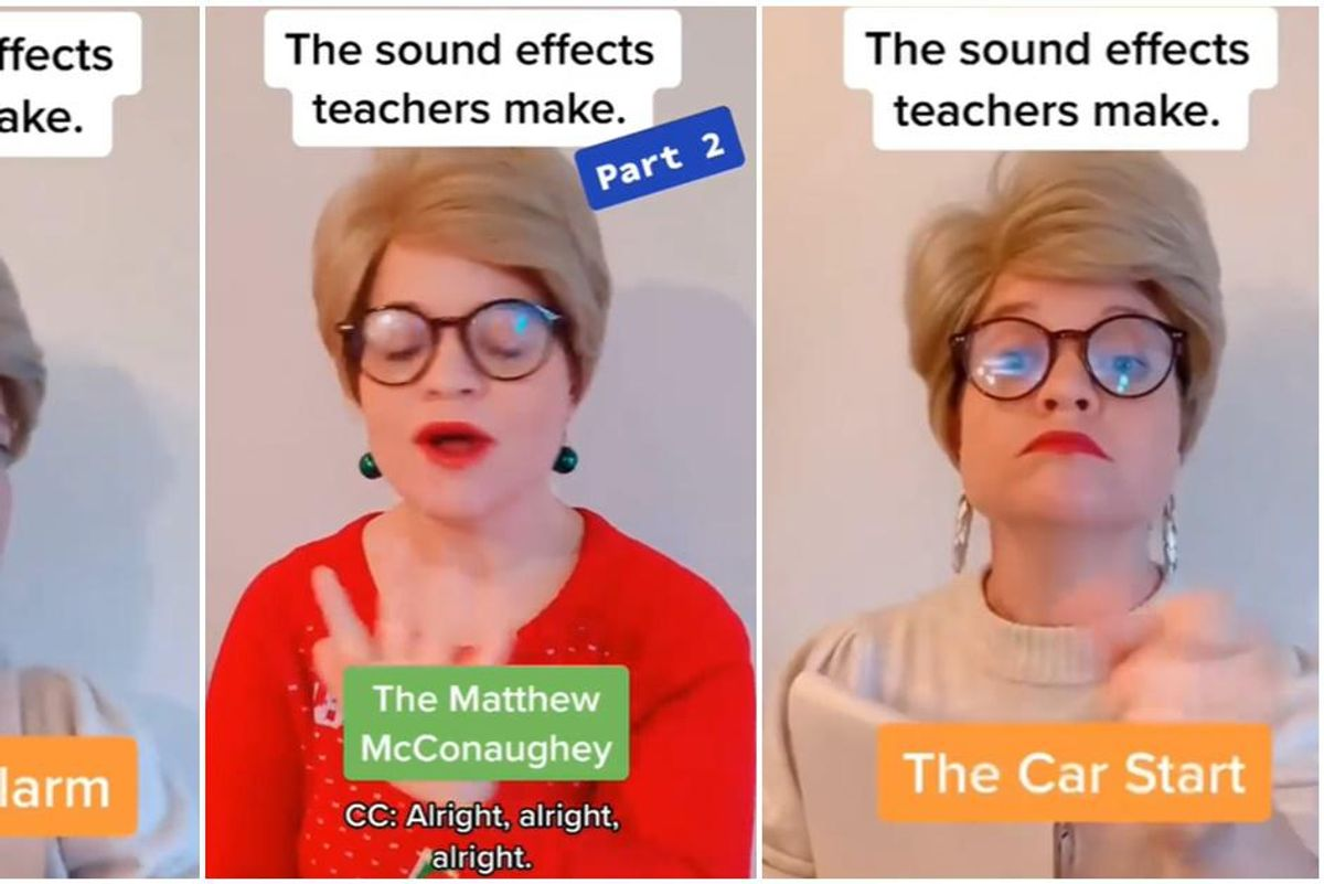 Comedian perfectly nails the 'sound effects' that every teacher makes