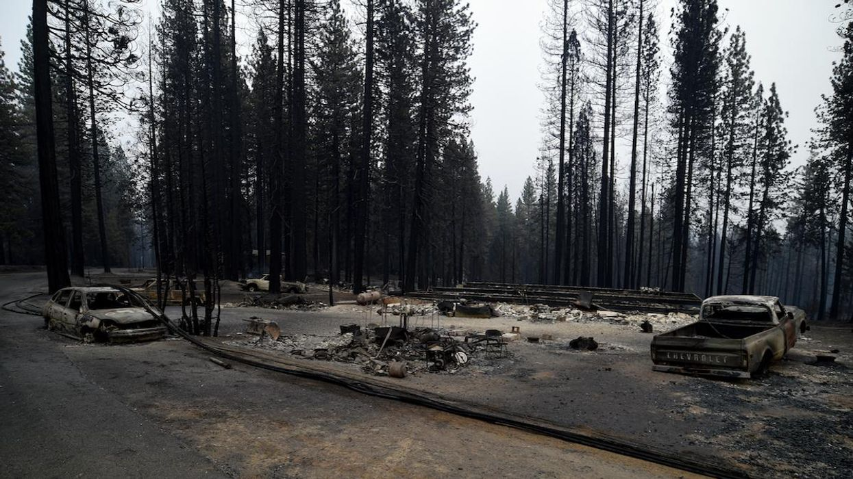 The Caldor Fire burned the community of Grizzly Flats in the El Dorado National Forest.