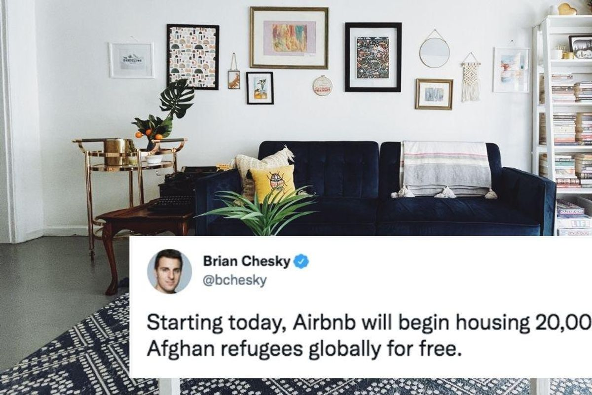 Airbnb offers to temporarily house 20,000 Afghan refugees for free