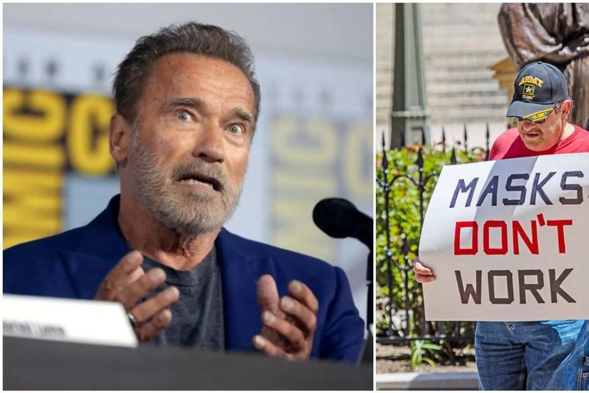 Arnold Schwarzenegger uses the perfect analogy to explain 'real freedom' to anti-maskers