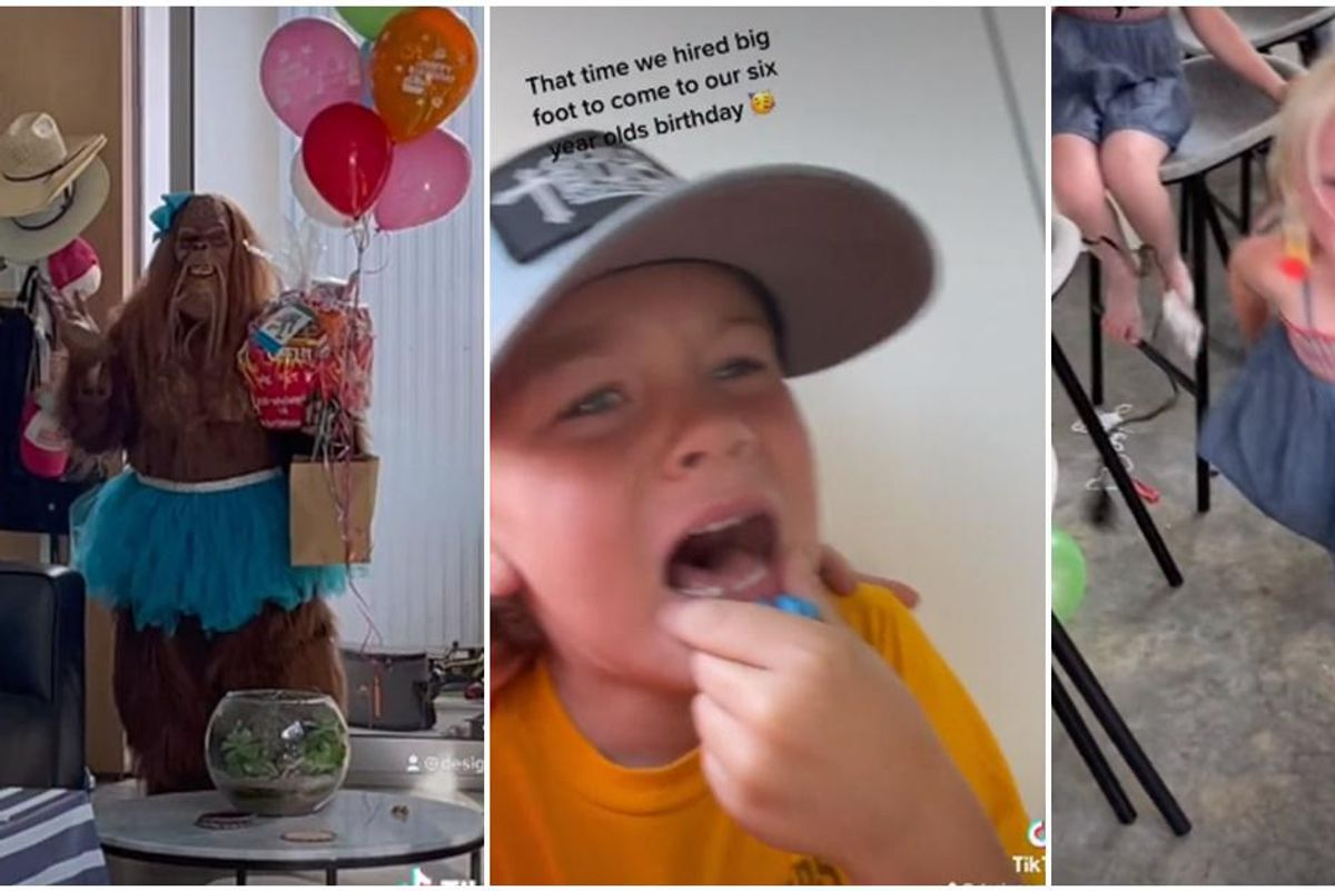 Mother accidentally terrifies group of kids by inviting 'Mrs. Bigfoot' to birthday party