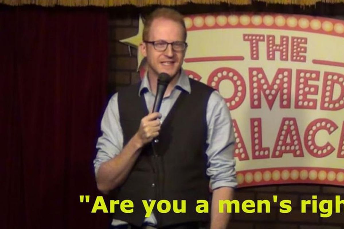 Sexist heckler gets humiliated in front of his own daughters
