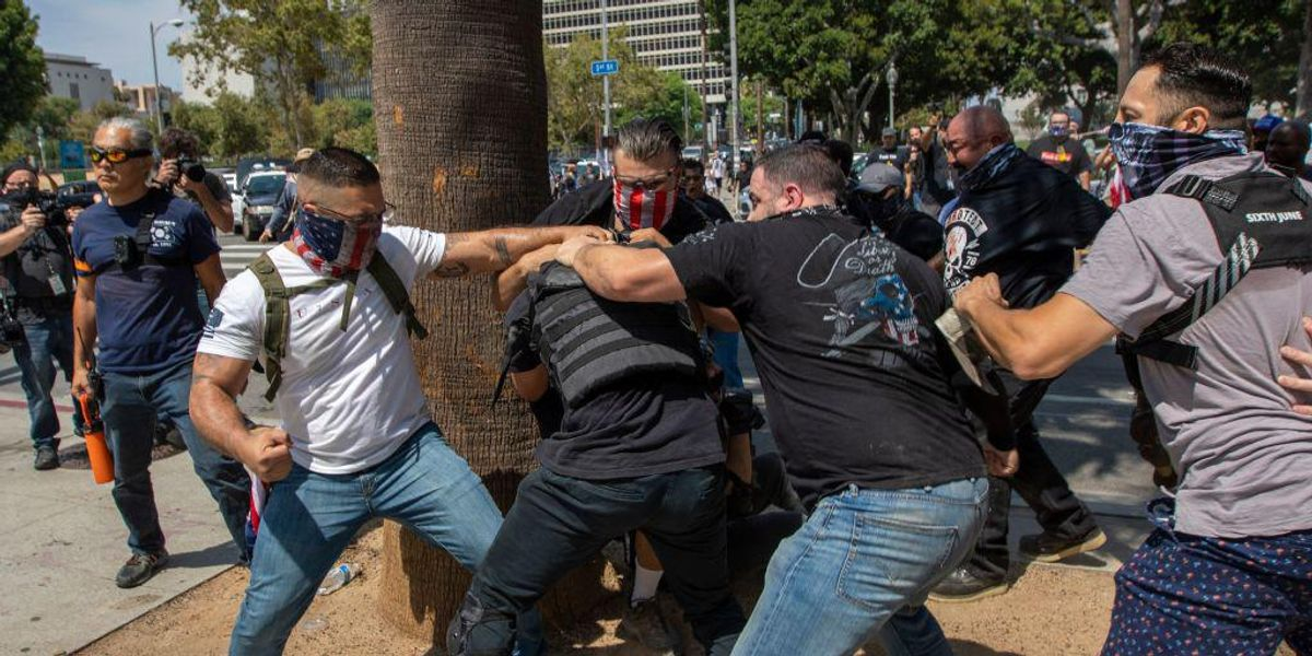 VIDEO: Man stabbed at protest against vaccine mandates when brawls break out between Antifa and demonstrators