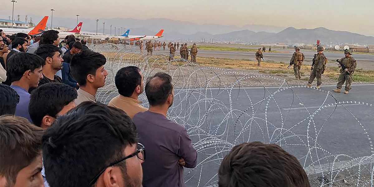 Footage Shows Chaos as Thousands of Afghan Civilians Try to Flee as Taliban Takeover