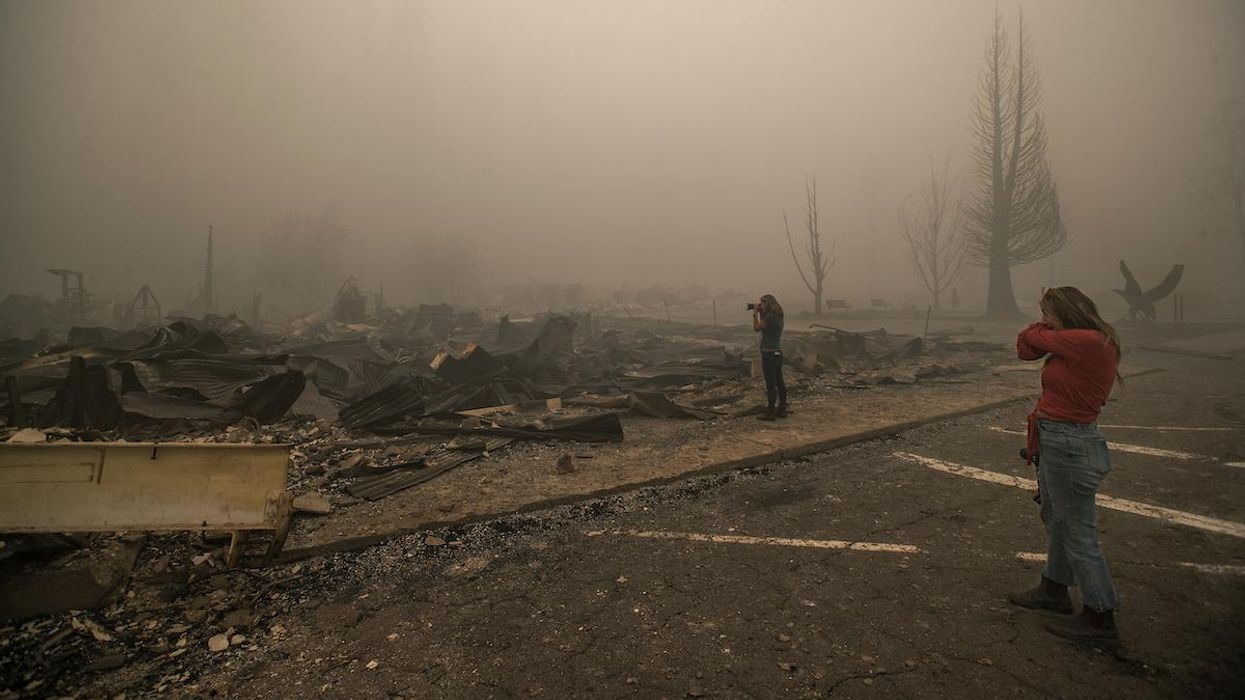 Destruction from the Dixie Fire in Greenville, California.
