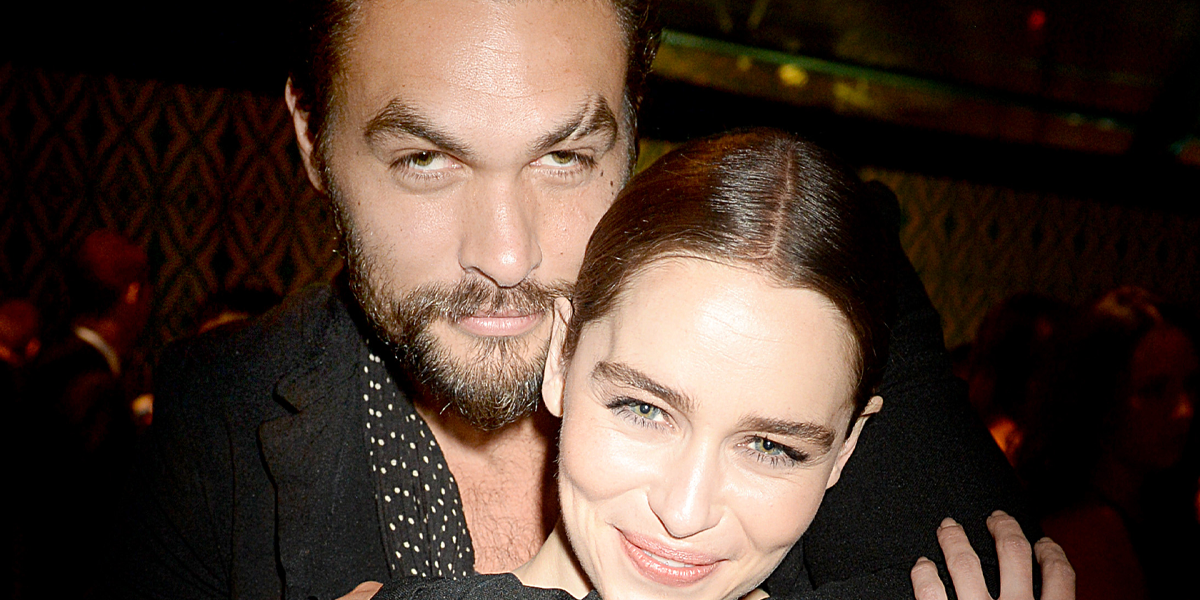 Jason Momoa Sweeps Emilia Clarke off Her Feet During 'Game of Thrones' Reunion