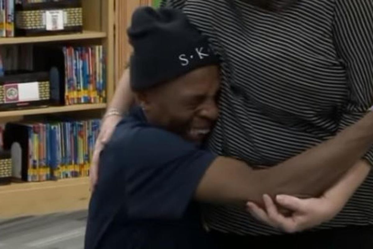 A school janitor had a 4-hour commute. Teachers gave him a gift that dropped him to his knees.