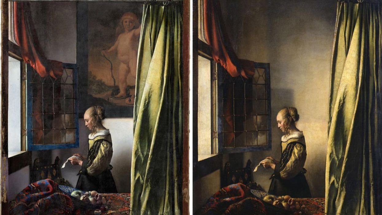 Found: a controversial painting hidden inside a painting by Vermeer