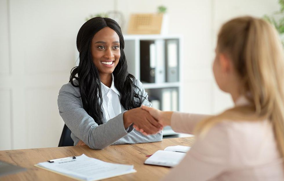 Woman prepared to answer interview questions