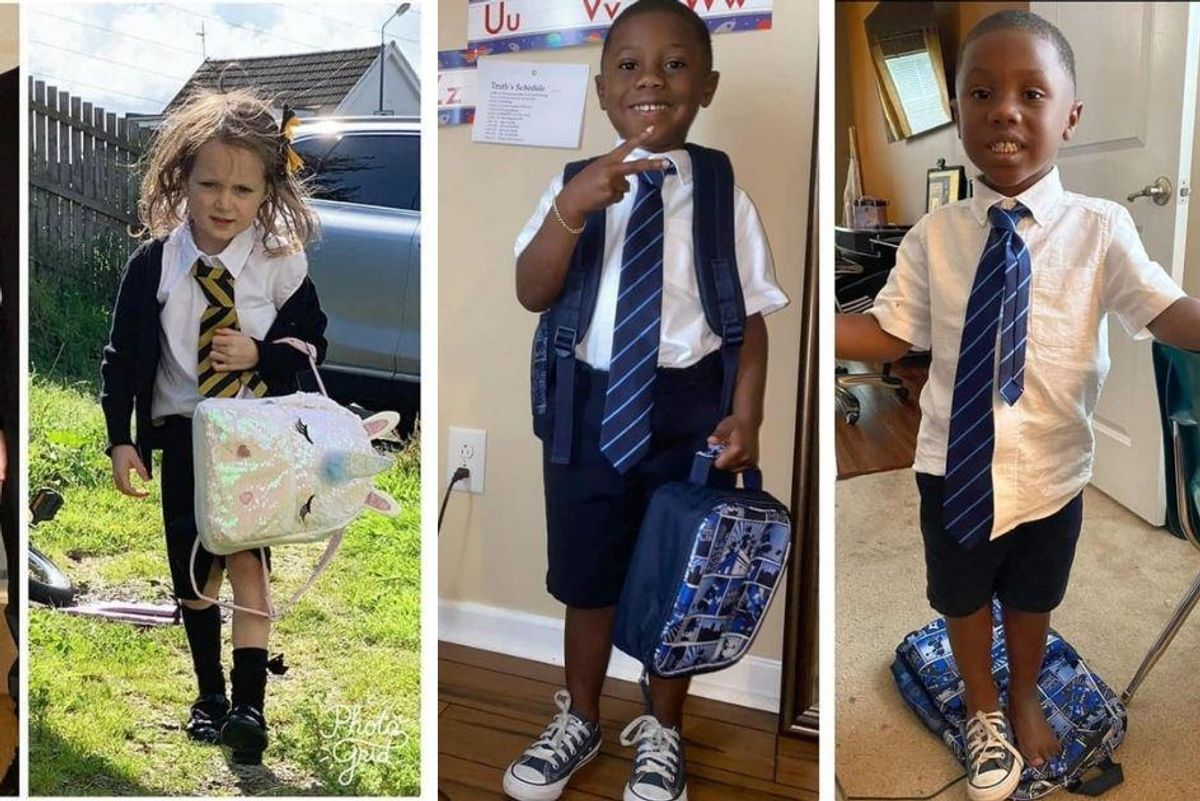 Parents are sharing hilarious before and after pictures of their kids' first day of school