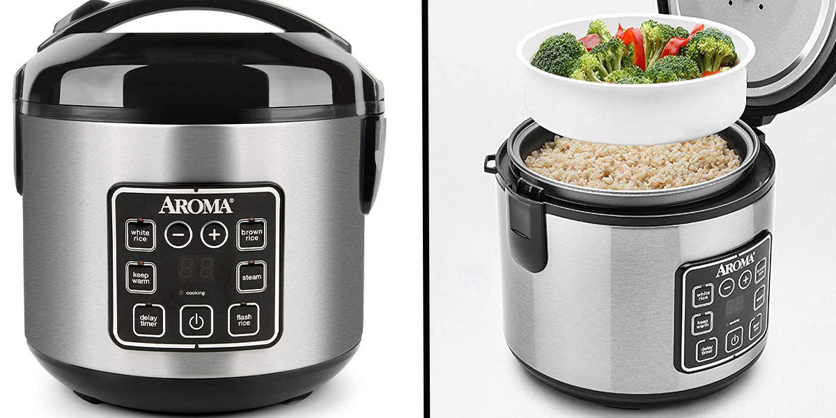 Multicooker Cooks Rice While Steaming the Rest of the Meal