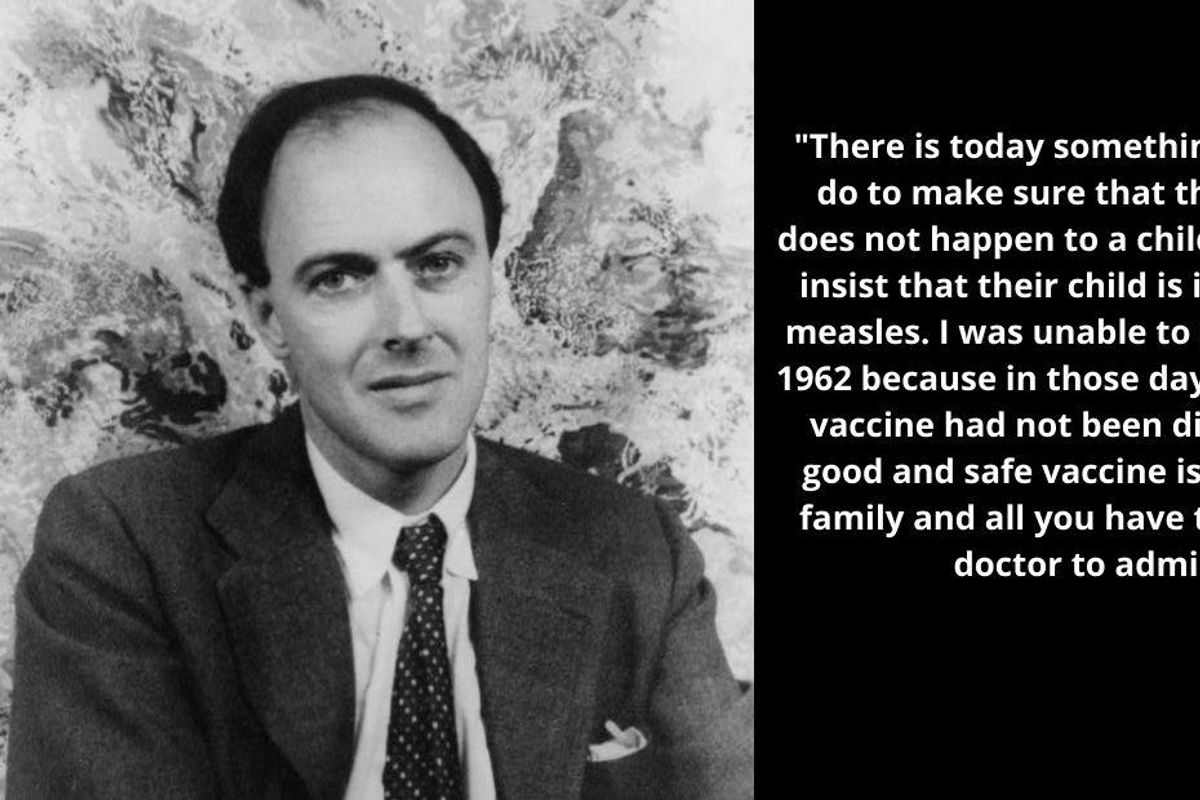 It's Roald Dahl's birthday but his moving pro-vaccination letter is the gift that keeps on giving