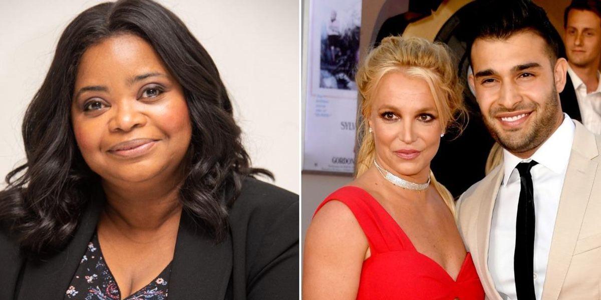 Octavia Spencer Tells Britney Spears to Make Her Fiancé Sign a Prenup