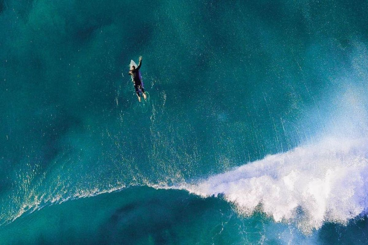 A surfer beautifully illustrated the transformative power of two simple words