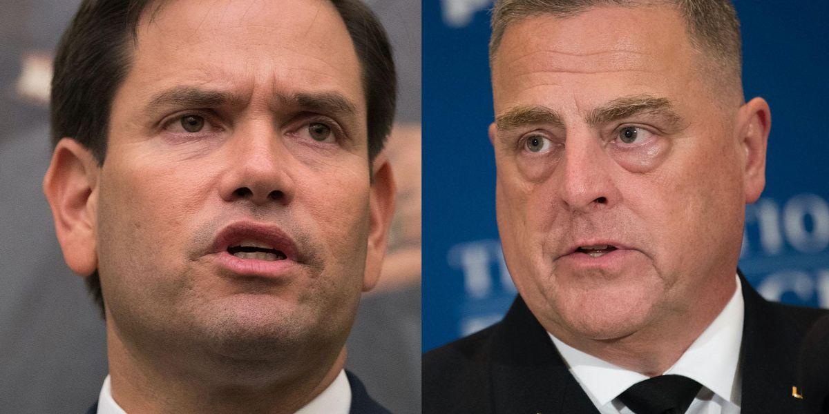 Sen. Marco Rubio calls on Biden to immediately fire Gen. Milley over 'treasonous' report he undermined Trump