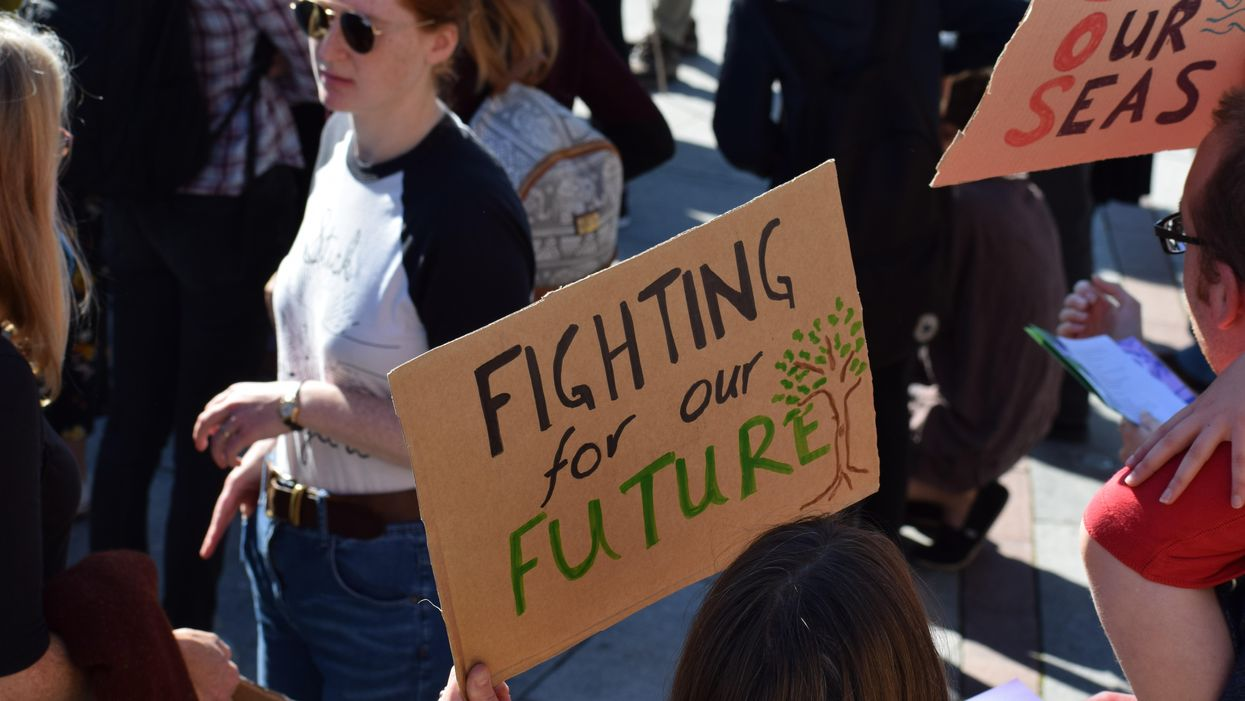 Young climate activists channel anxiety about floods and wildfires