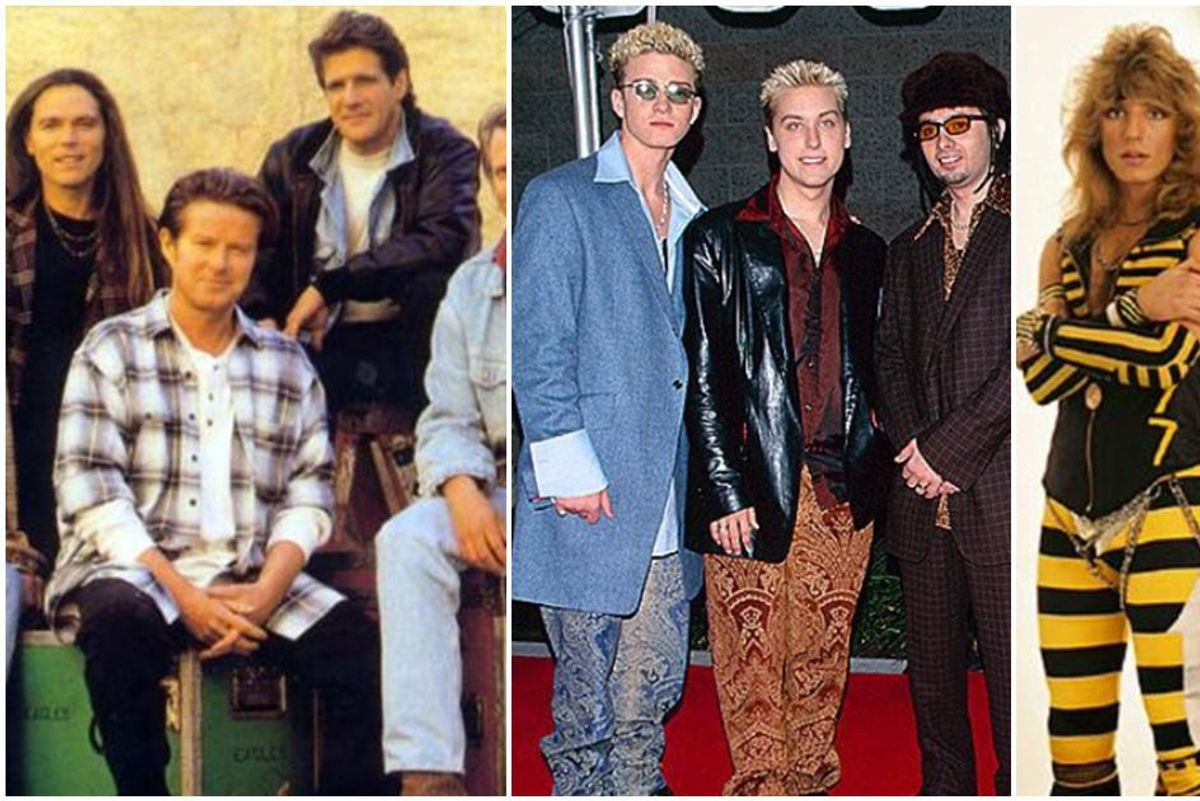 1994 picture of the Eagles sparks a hilarious photo fight over the 'worst-dressed band'