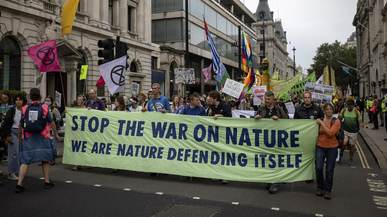 Extinction Rebellion protesters in London.