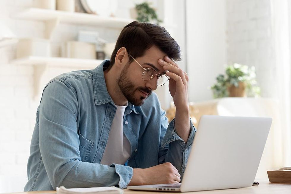 Man stressed about his bad boss