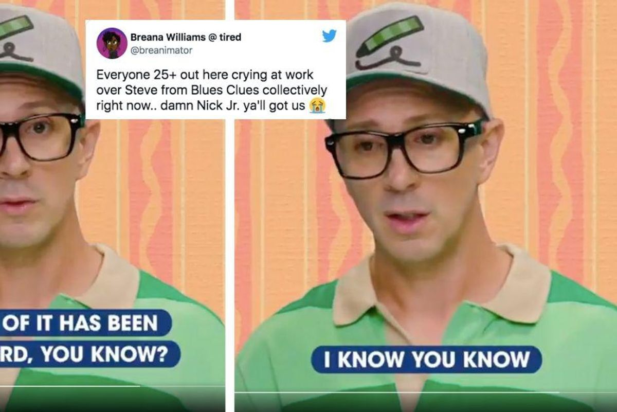 A video message from Steve from Blue's Clues has millennials drowning in their feelings