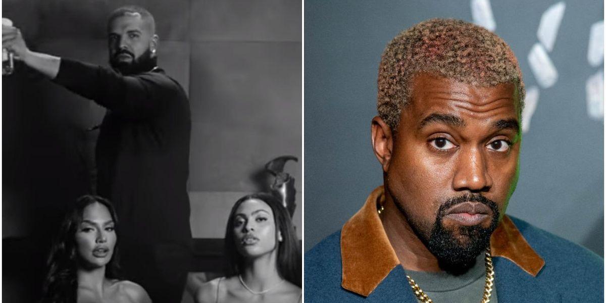 Drake Appears to Mock Kanye by Casting Kim Kardashian Lookalike