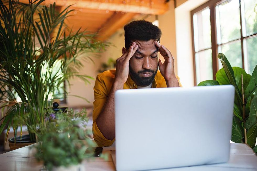 Man dealing with job search fears
