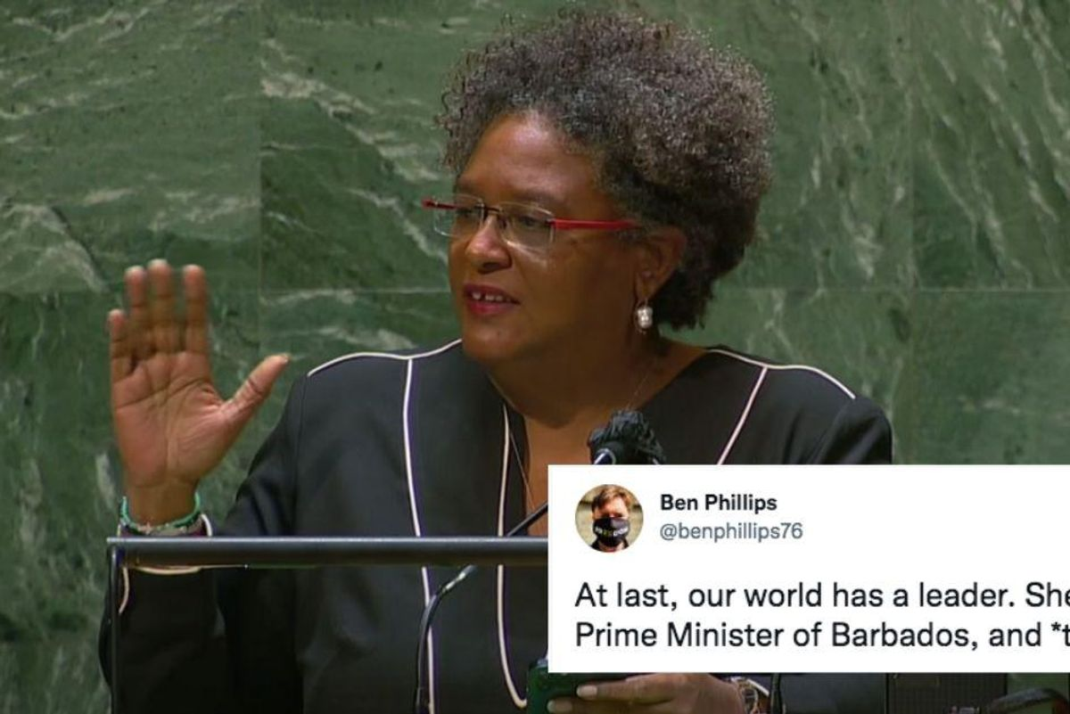Barbados prime minister goes viral with her powerful speech to the United Nations