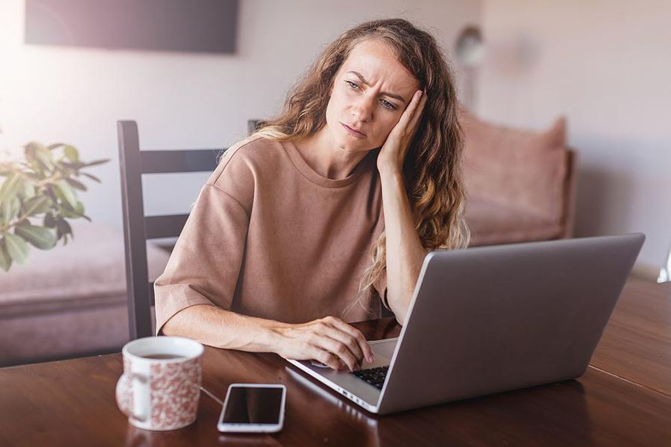Woman scared to find a new job